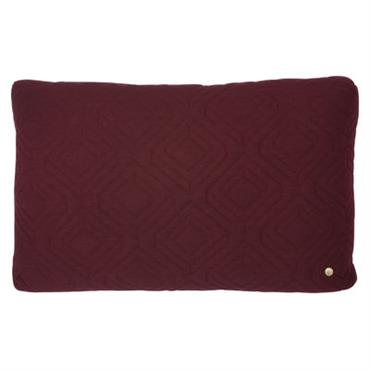 Coussin Quilt / 60 x 40 cm - Ferm Living Bordeaux en Tissu