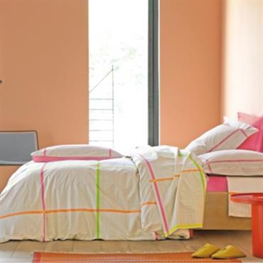 Parure de lit percale Farniente Pink BLANC DES VOSGES