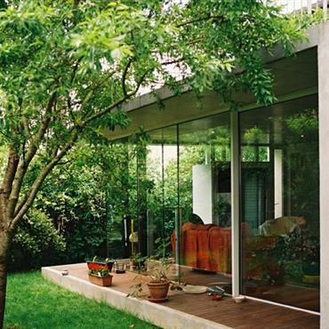 Connection entre le jardin et le salon