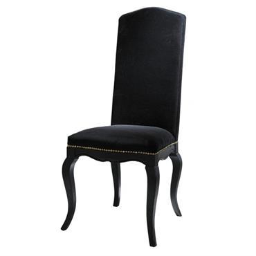 Autour de la table à diner noire, la chaise noire Barocco donnera à votre maison une dimension prestigieuse. Cette chaise de table est une chaise design confortable grâce à son ...