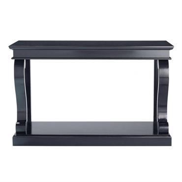 Table console en bouleau noire L 130 cm Octavia