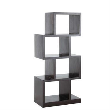 Mise en valeur par un bois teinté à la belle couleur sombre, cette étagère de rangement donnera une touche de modernité à votre déco. Composé de 4 cases irrégulières, ce ...