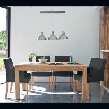 Pour vos dîners en famille ou entre amis, découvrez la table de salle à manger STOCKHOLM. D'un design sobre inspiré du mobilier nordique, cette grand table en bois massif  ...