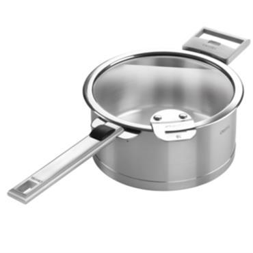 3 casseroles CRISTEL Strate Inox avec poignée amovible