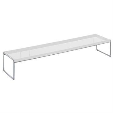 Table basse Trays rectangulaire - 140 x 40 cm - Kartell blanc