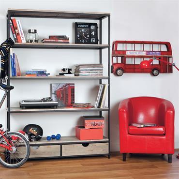 Parfait compromis entre le fauteuil de salon classique et le fauteuil moderne vif et coloré, le fauteuil club rouge Nantucket apportera une note colorée à votre intérieur.Son revêtement en textile ...