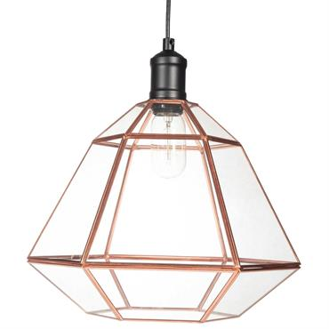 Suspension en verre D 36 cm ARTY COPPER