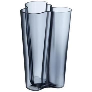 Vase Aalto / H 25 cm - Iittala Gris orage en Verre