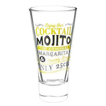 Verre à cocktail en verre jaune MOJITO