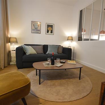 Salon cosy avec canapé