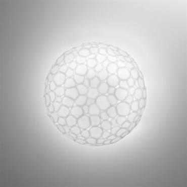 Applique Meteorite / Plafonnier - Ø 15 cm - Artemide blanc en verre