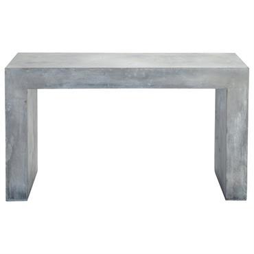 Table console effet béton en magnésie grise L 135 cm Mineral
