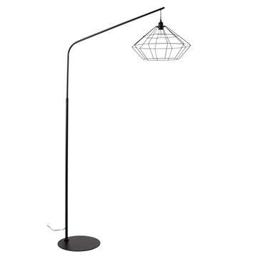 Résolument graphique, le lampadaire en métal noir ORIGAMI s'inspire de la forme d'un diamant complètement ouvert en guise d'abat-jour. Doté d'un piètement arqué, ce luminaire saura compléter votre déco avec ...