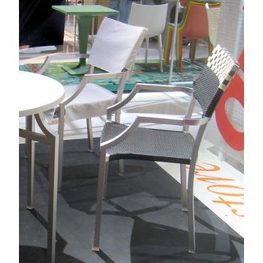 Housse de chaise / Pour fauteuil One Cafe´ - Driade blanc en tissu