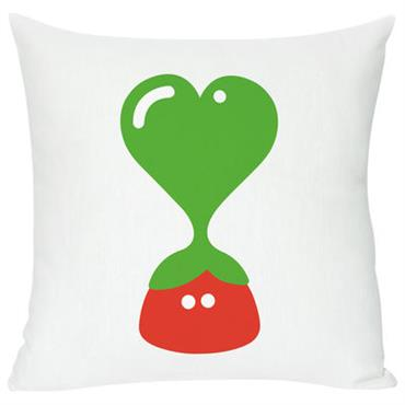 Coussin Green heart / 40 x 40 cm - Domestic blanc