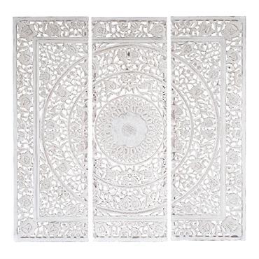 Triptyque blanc 150 x 150 cm ANDAMAN