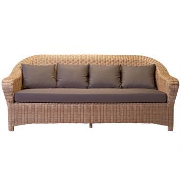 Canapé 3 places pour le jardin