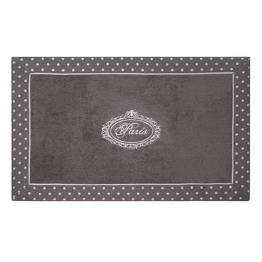 Tapis de bain en coton gris 50 x 80 cm PARIS