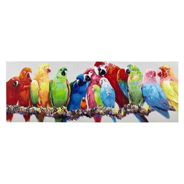 Toile perroquets multicolores 70x200