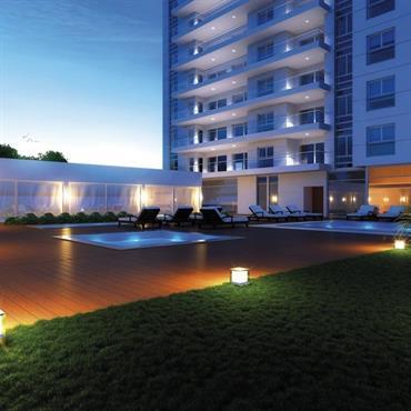 Piscine et bassins d'extérieurs de l'hôtel