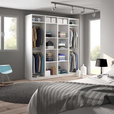 Dressing ouvert sur-mesure : s'adapte à votre pièce et vos envies de rangement
