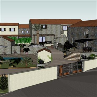 Projet d'agencement extérieur - étude en 3D