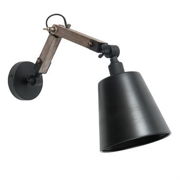 Applique indus en métal noir H 15 cm EDISON