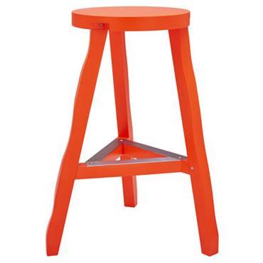 Tabouret haut Tom Dixon design Orange fluo en Bois. Dimensions : Ø 46 cm x H 65 cm. Résolument écolo, le tabouret haut Offcut est réalisé à partir de chutes ...
