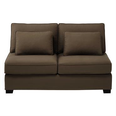 Chauffeuse de canapé modulable en coton taupe L 151 cm Milano
