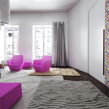 Salon rétro moderne