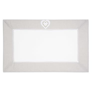Tapis de bain en coton blanc 50 x 80 cm HEART