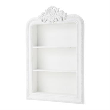 Étagère sculptée blanche L 79 cm ROMANTIQUE