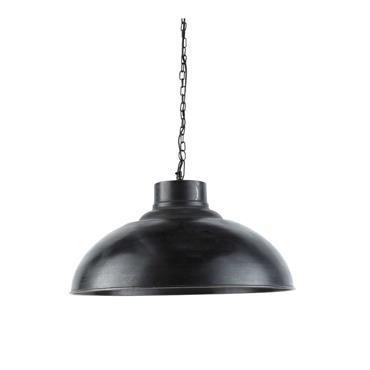 Suspension indus en métal effet vieilli noire D 56 cm SPRINGFIELD