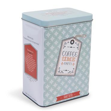 Boîte à café en métal bleue H 18 cm GOOD TASTY