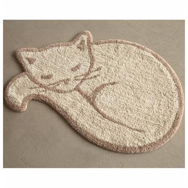 Une collection gaie et ´´CHAT´´leureuse Eponge 100% coton, 1200 g/m² Lavable à 30° Forme chat. Absorbant et moelleux. Dim : 80cm x 53cm