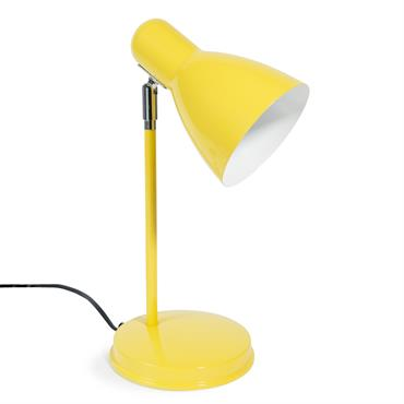 Lampe en métal jaune H 35 cm ELLA