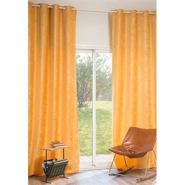 Rideau à œillets en velours jaune 140 x 300 cm VINTAGE VELVET CURCUMA