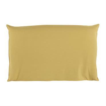 Housse de tête de lit 180 jaune moutarde Soft