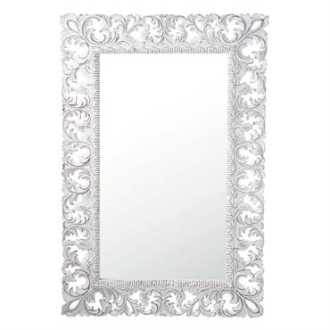 Miroir en manguier blanc H 140 cm KOMANG