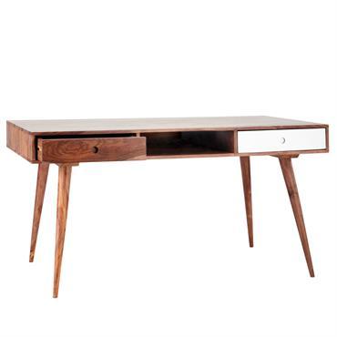 Bureau vintage en bois de sheesham massif L 150 cm Andersen