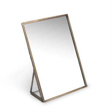 Miroir à poser en métal H 18 cm DIXIE