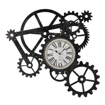 Horloge indus en métal 86x91