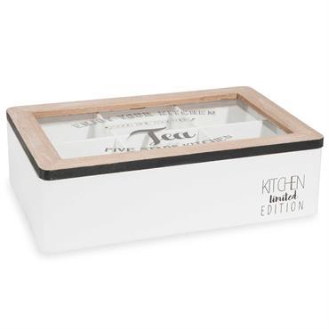 Boîte à thé en bois 16 x 24 cm TEA LIMITED SELECTION
