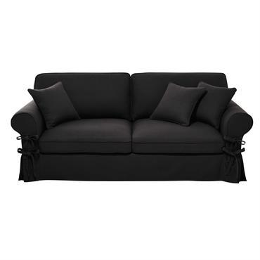 Élégant en gris ardoise, ce canapé convertible 3/4 places en coton s'accordera parfaitement à des teintes plus douces. Tout confort avec ses 3 coussins de dossier, ce canapé convertible pourra ...