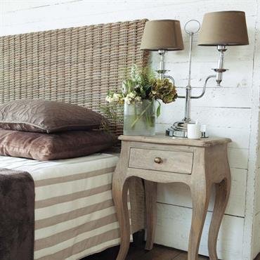 Table de chevet avec tiroir en manguier et acacia Colette