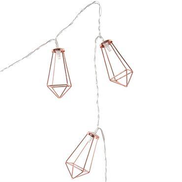 Guirlande lumineuse en métal L 185 cm DIAMOND COPPER