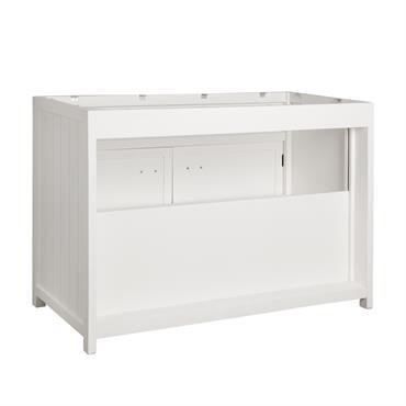 Meuble bas de cuisine en pin blanc L120 Newport