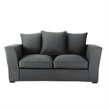 Chic avec son coloris gris ardoise, ce canapé convertible 2/3 places vous offrira un lit d'appoint sans pour autant négliger le confort de son assise. Entièrement déhoussable, ce canapé gris ...