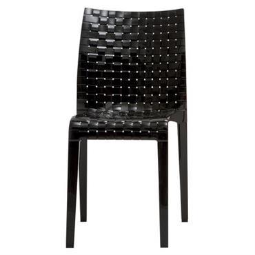 Chaise empilable Ami Ami / Polycarbonate - Kartell noir brillant en matière plastique