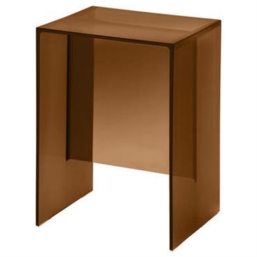 Table d´appoint Max-Beam / Tabouret - Kartell ambre en matière plastique